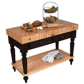 John Boos Kitchen Island Work Tables - 48\'\' Cucina Rustica ...