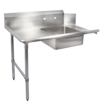 "John Boos Pro Bowl ""Soiled Straight Dishtable"" for Left or Right Side with Stainless Steel Legs & Stainless Steel Top"