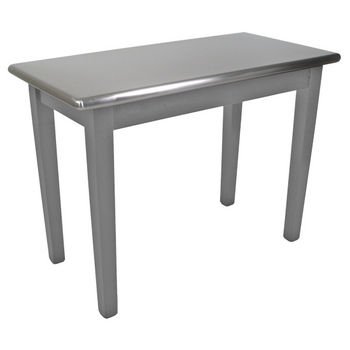 "John Boos Kitchen Island Cucina Moderno with Stainless Steel Top, 48""W x 24"" or 30""D x 36""H, Slate Gray"