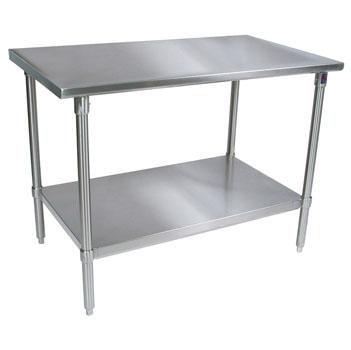 John Boos 16 Gauge Stainless Steel Work Tables w/ Shelf