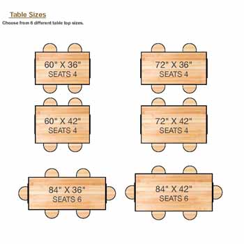 Table Top Sizes