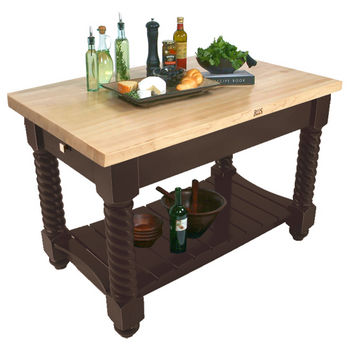 "John Boos Tuscan Isle Boos Block, 54"" or 72""W x 32""D x 36""H, French Roast"