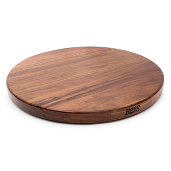 John Boos Walnut Lazy Susan, with Ball Bearing Swivel, Varnique
