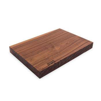 "John Boos Black American Walnut Rustic-Edge Design Reversible Cutting Board, 17""W x 12""D x 1-3/4""H"