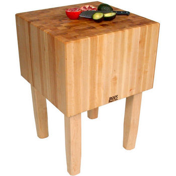 Butcher Block Work Tables with 16'' Thick End Grain Work Surface by John Boos