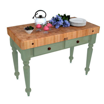 48'' Basil Green Work Table