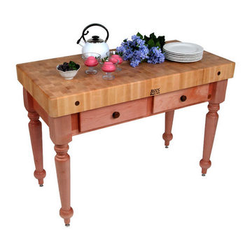 48'' Cherry Stain Work Table