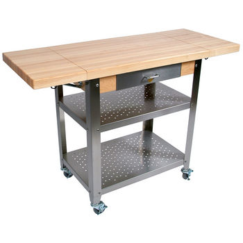 John Boos Cucina Elegante Kitchen Carts with 1-3/4\'\' Thick ...