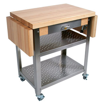 Cucina Elegante Maple Top Kitchen Cart by John Boos