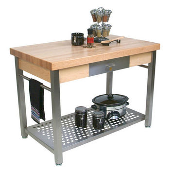 John Boos Maple Cucina Grande Kitchen Work Table 60 W X 28 D 35 H
