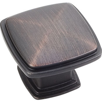 Jeffrey Alexander Milan 1 Collection 1-3/16'' W Plain Square Cabinet Knob in Brushed Oil Rubbed Bronze