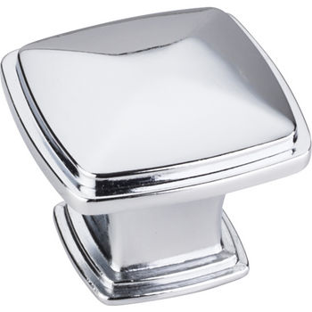 Jeffrey Alexander Milan 1 Collection 1-3/16'' W Plain Square Cabinet Knob in Polished Chrome