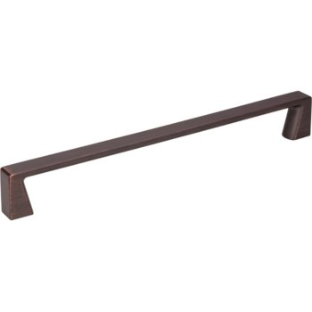 "Jeffrey Alexander 8-1/16"" Width Boswell Cabinet Pull in Brushed Oil Rubbed Bronze, Center to Center: 192mm (7-9/16"")"
