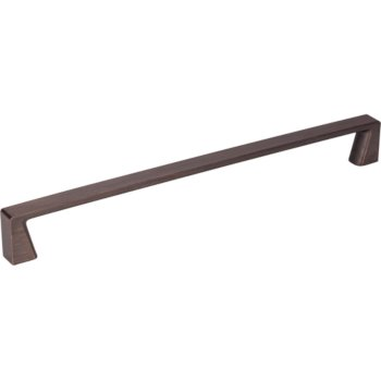 "Jeffrey Alexander 9-5/16"" Width Boswell Cabinet Pull in Brushed Oil Rubbed Bronze, Center to Center: 224mm (8-7/8"")"