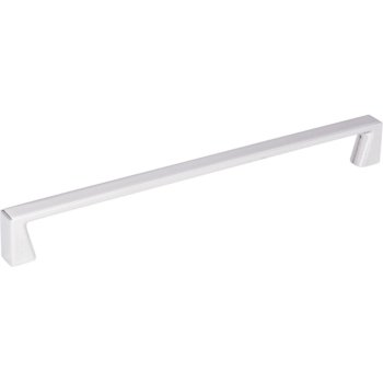 "Jeffrey Alexander 9-5/16"" Width Boswell Cabinet Pull in Polished Chrome, Center to Center: 224mm (8-7/8"")"