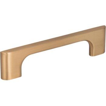"Jeffrey Alexander 5-1/8"" Width Leyton Cabinet Pull in Satin Bronze, Center to Center: 96mm (3-3/4"")"