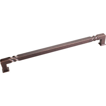 Jeffrey Alexander Tahoe Collection 12-3/4'' W Rustic Cabinet Appliance Pull in Distressed Oil Rubbed Bronze
