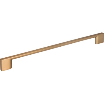 "Jeffrey Alexander 11-7/16"" Width Sutton Cabinet Pull in Satin Bronze, Center to Center: 256mm (10-1/16"")"