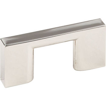 "Jeffrey Alexander Sutton Collection 2-1/4"" W Cabinet Bar Pull in Polished Nickel, 2-1/4"" W x 1"" D, Center to Center 32mm (1-1/4"")"