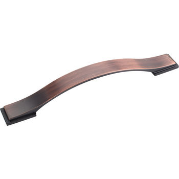 Jeffrey Alexander Mirada Collection 8-1/16'' W Strap Cabinet Pull in Brushed Oil Rubbed Bronze