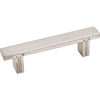 """Jeffrey Alexander Anwick Collection 4-5/16"""" W Rectangle Cabinet Pull in Satin Nickel, 4-5/16"""" W x 1-1/16"""" D, Center to Center 3"""""""