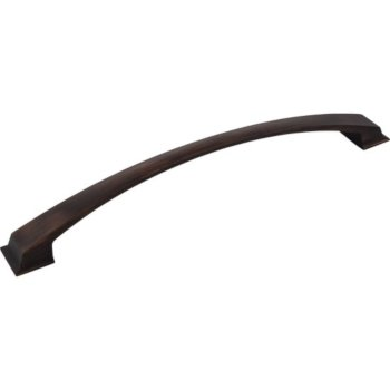 """Jeffrey Alexanders Roman Collection 13-5/8"""" W Decorative Appliance Pull, 12"""" Center to Center, Brushed Oil Rubbed Bronze, 13-5/8"""" W x 1-7/8"""" D x 1-7/8"""" H"""