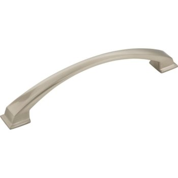 """Jeffrey Alexanders Roman Collection 7-1/2"""" W Decorative Cabinet Pull, 160 mm (6-1-4"""") Center to Center, Satin Nickel, 7-1/2"""" W x 1-7/16"""" D x 1-7/16"""" H"""