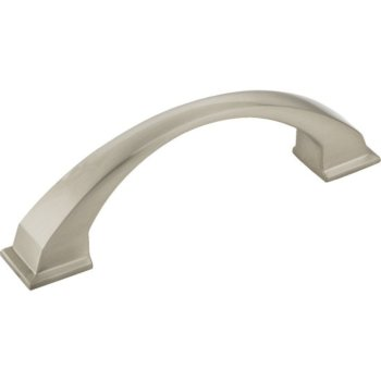 """Jeffrey Alexanders Roman Collection 4-15/16"""" W Decorative Cabinet Pull, 96 mm (3-3/4"""") Center to Center, Satin Nickel, 4-15/16"""" W x 1-7/16"""" D x 1-7/16"""" H"""