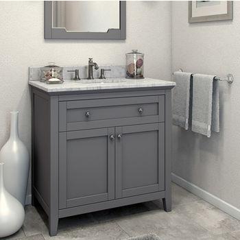 Bathroom Vanity, Chatham Shaker Bathroom Vanity with Carerra ...