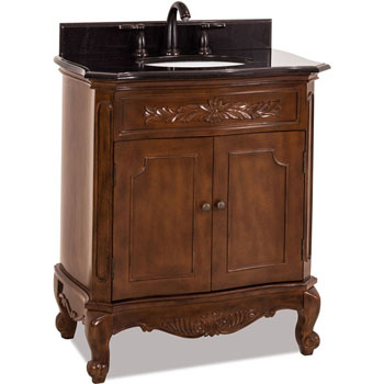 Jeffrey Alexander Clairemont Bath Elements Bathroom Vanity With Granite Top Sink Painted