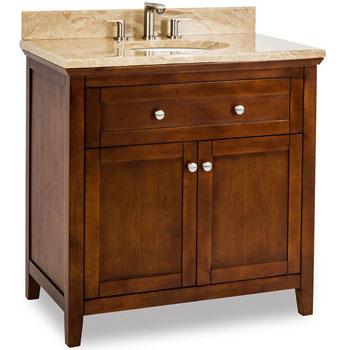 Shaker Bathroom Vanity on Jeffrey Alexander Chatham Shaker Bathroom Vanity With Marble Top
