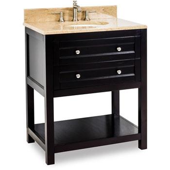 Jeffrey Alexander Astoria Modern Bathroom Vanity With Marble Top Sink Espresso 30 W X 22 D X