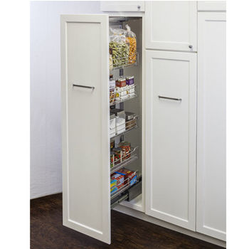 "Wire Pantry Pullout, with Heavy-Duty Soft-Close Slides, 17-1/2""W x 19-3/8""D x 73-1/4"" - 86-5/8""H, For a 20"" wide cabinet opening"