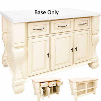 Jeffrey Alexander Tuscan Kitchen Island Base Antique White 52 5 8 W X 32 3 D 35 1 4 H