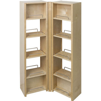 "Pantry Swing Out Cabinets, Left & Right Cabinet, 25-15/16""W x 8""D x 45-5/8""H"