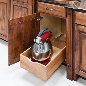 """Preassembled Rollout Drawer Shelf System for 12"""" Cabinet Openings, 10-1/4""""W x 21-7/16""""D x 7""""H, with 21"""" Undermount Soft Closing Drawer Slides"""