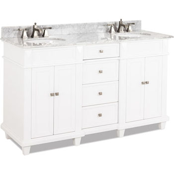 white double sink bathroom vanity. Jeffrey Alexander Douglas Painted White Double Base Bathroom Vanity with  Marble Top Sink 60 W x 22 D 36 H Vanities Bath