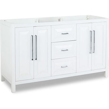 60 Inch White Vanity Base jeffrey alexander double sink bathroom vanities - bath vanities