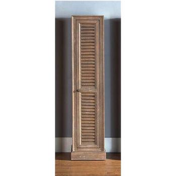 James Martin Furniture Savannah/Providence Small Linen Cabinet, Driftwood  Finish, 15 3/4u0027W X 15 1/4u0027D X 65u0027H