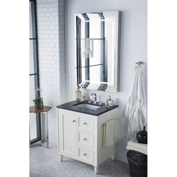 Bright White Charcoal Soapstone Top