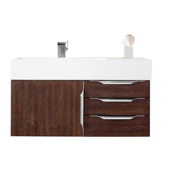 """36"""" Coffee Oak Cabinet View"""