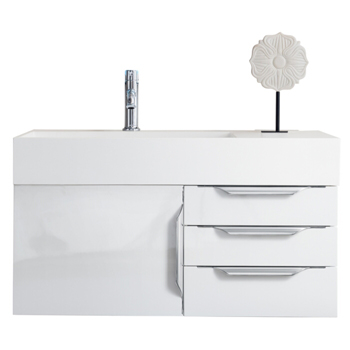 """36"""" Glossy White Cabinet View"""