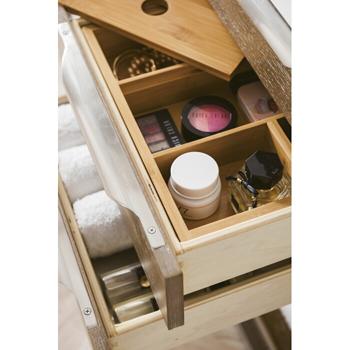 "36"" Latte Oak Cabinet Tiered Drawer View"