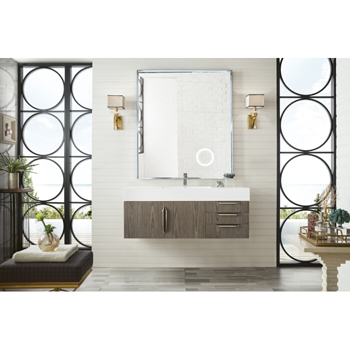 """48"""" Ash Gray Cabinet Front View"""