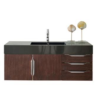 """48"""" Coffee Oak Cabinet View"""