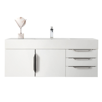 """48"""" Glossy White Cabinet View"""