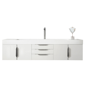 """72"""" Glossy White Cabinet View"""