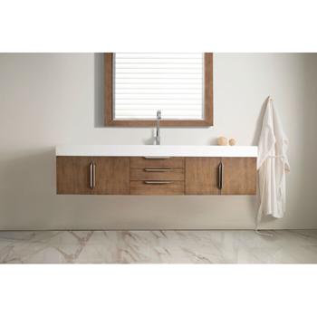 """72"""" Latte Oak Cabinet Front View"""