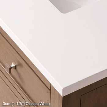 3cm classic white top