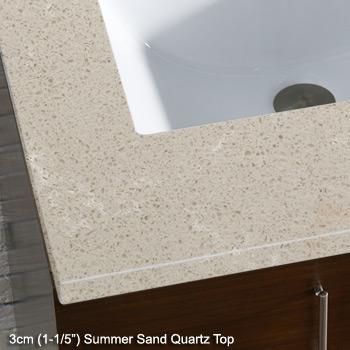 3cm (1-1/5'') Summer Sand Quartz Top